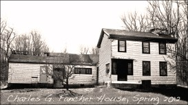 Charles G. Fancher House undergoing renovations during the spring of 2012.
