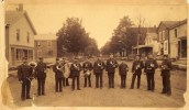 Marching Band on Main Street, Essex, NY