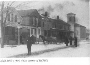 A winter scene (c. 1890) of Main Street, Essex, NY (Photo courtesy of ECHO)
