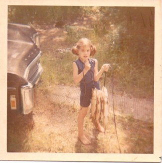 Jodi Skyes (age 10) at the camp.