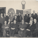 Essex County Board of Supervisors with Harry Albee seated on the far right, kitty corner in back of the first man in the front row. (Credit: Olive Alexander)