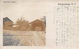 Vintage Postcard: Covered Bridge in Whallonsburg, NY (Credit: N.F. Dickens Photo Co., Schenectady, NY)