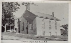 """Vintage Photo: """"American Legion Hall, Essex, NY"""" (Credit: Unknown; Shared by Susie Drinkwine)"""
