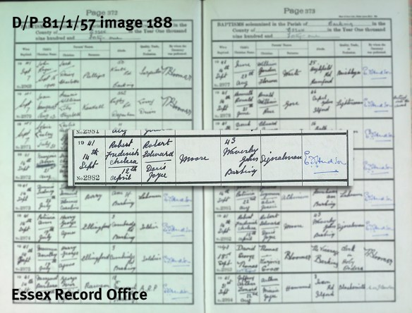 Baptism of Bobby Moore (D/P 81/1/57)