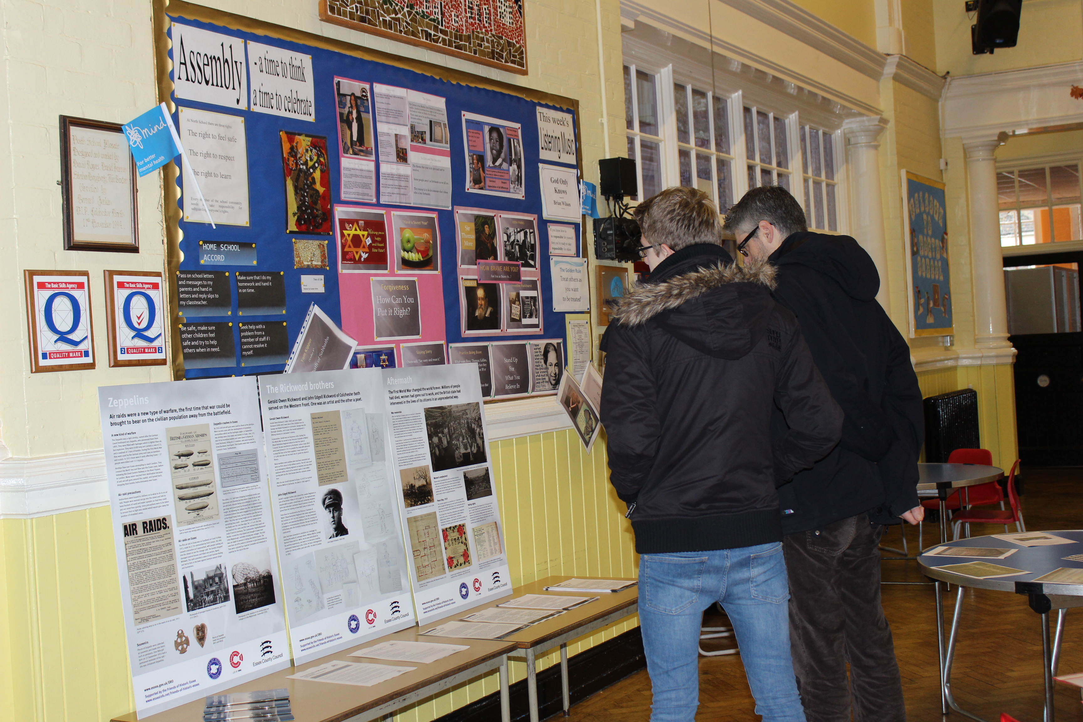 open day 1Visitors looking at ERO WW1 exhibition