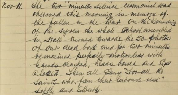 sch admission reg 11.11.1918 remembrance 1