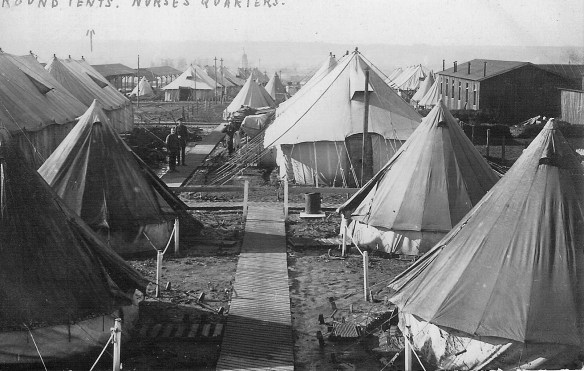 Tented nurse's quarters at a Casualty Clearing Station  (Courtesy of Sue Light)