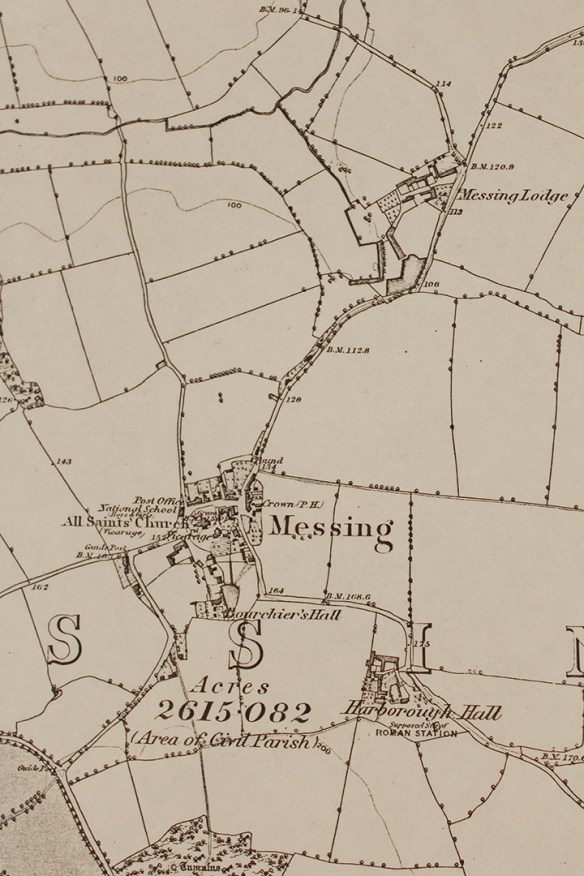 Ordnance Survey map of Messing, 1874