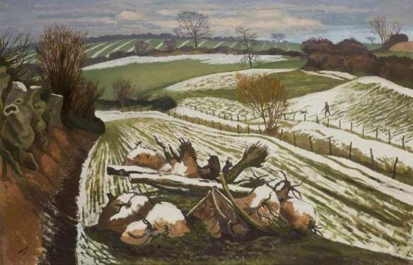 Nash, John Northcote; Melting Snow at Wormingford; Southend Museums Service; http://www.artuk.org/artworks/melting-snow-at-wormingford-2708
