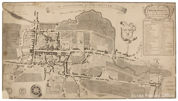 James Deane's plan of Colchester, c.1748 (MAP/CM/25/1)
