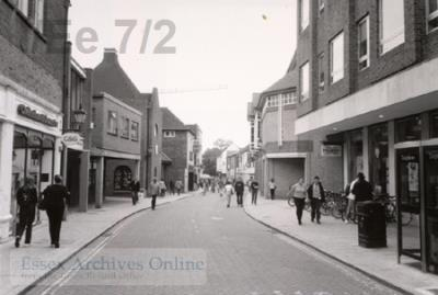 Black and white image of Culver Street, Colchester