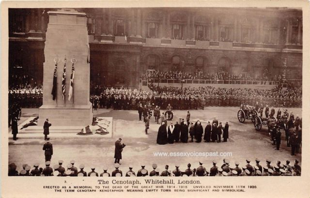The unveiling of the permanent Cenotaph and the funeral procession of the Unknown Warrior, 11 November 1920.