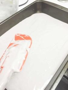 TIP: bake in a rectangular cake tray for easier crumbling