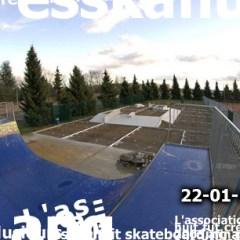 Vue haute travaux skatepark Wittenheim