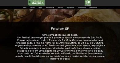 """Festival """"Feito em SP"""" de gastronomia recebe inscrições até quinta-feira (3)"""
