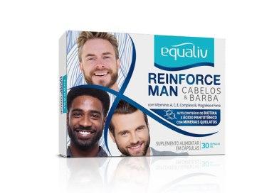 Suplemento vitamínico Equaliv Reinforce Man está disponível no mercado