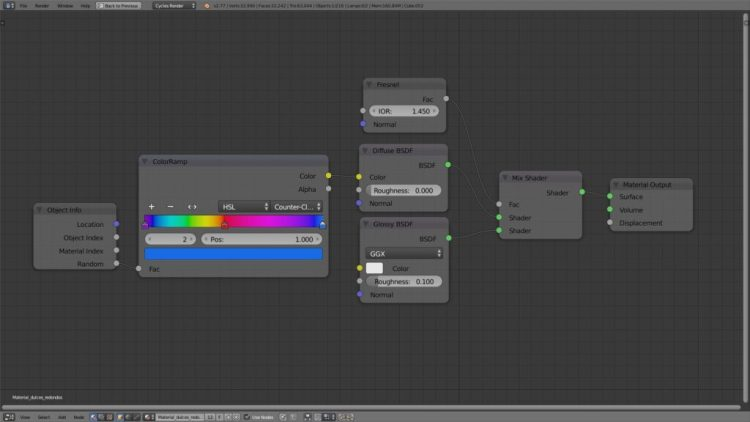 Material dulces redondos - Blender Cycles
