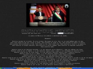 Página de la Sedena hackeada por Anonymous México. Foto: Especial
