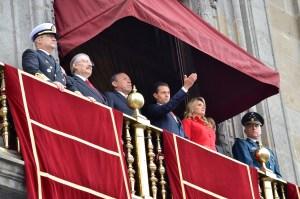 Enrique Peña Nieto da inicio a las festividades del 16 de septiembre. Foto: Angel Silva Juárez