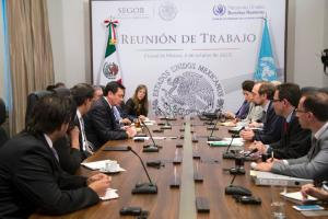 Reunión entre Segob y ONU. Foto: Segob