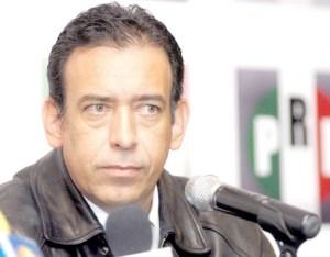 aspecto de la rueda de prensa con Manlio Fabio Beltrones y el Gobernador Humberto Moreira Valdes, en el hotel Camino Real