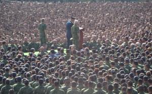 General Cienfuegos ante la tropa. Foto: Sedena