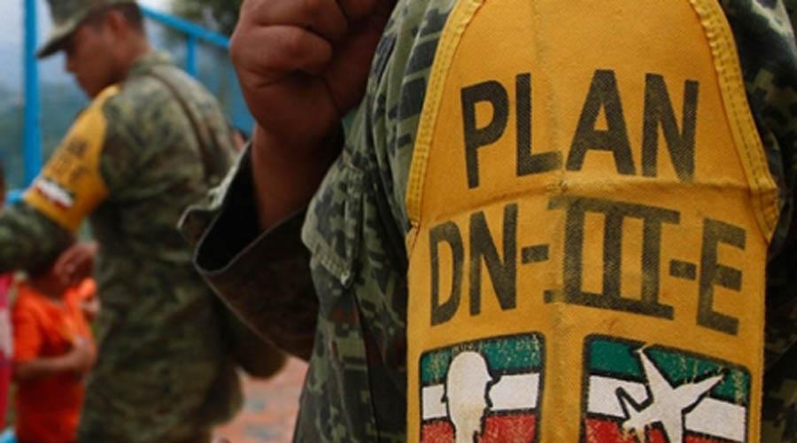 Acciones dentro de las actividades de seguridad y avances de la aplicación del Plan DN-III-E en el estado de Yucatán.