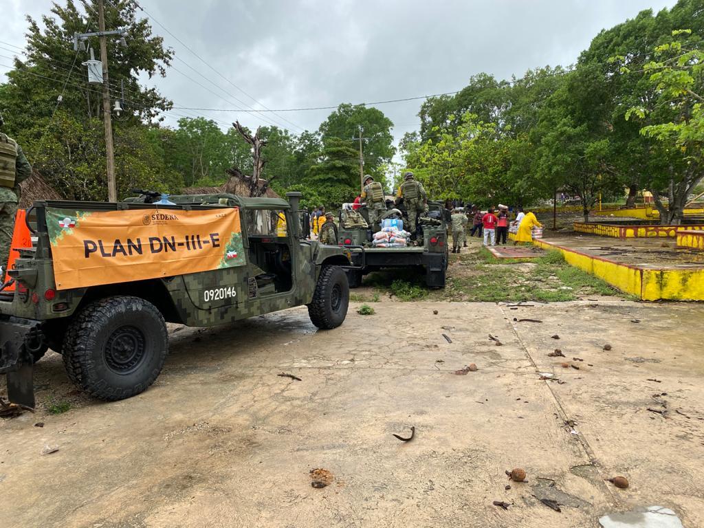 Ejército Mexicano continúa aplicando el Plan DN-III-E en varios estados del sureste del país