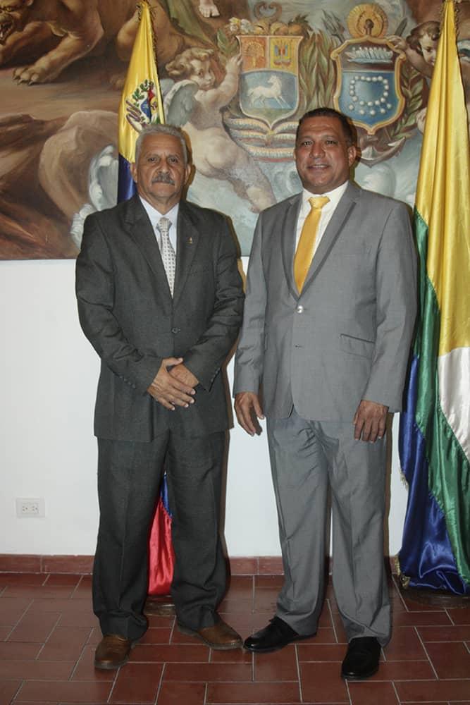 El gobernador del estado Alfredo Díaz y el presidente del Iasdebne, Aníbal Layo Cedeño.