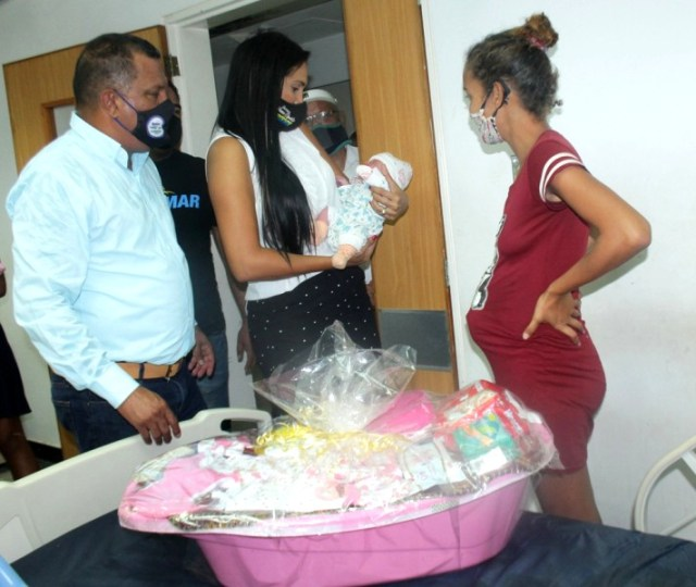 Geimelys Ramos nació pasadas las cuatro de la mañana de este viernes en el hospital central de Margarita