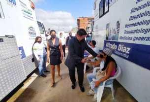 La primera dama Leynys Malavé de Díaz recibió al Comisionado de la Organización Mundial por la Paz en Venezuela
