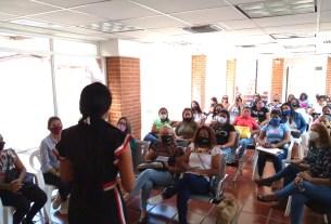 La primera dama Leynys Malavé de Díaz, coordina los preparativos por el Día Internacional de la Mujer