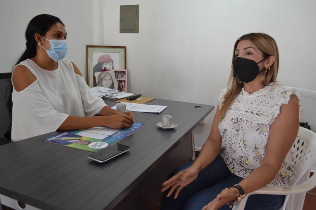 La primera dama Leynys Malavé de Díaz y Silvimar Campos, de Stop VIH coordinan las acciones por el Día Internacional de la Mujer