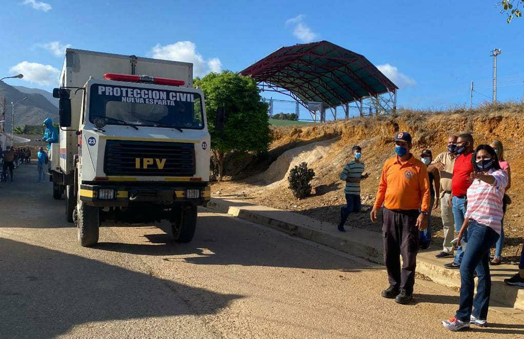 La primera dama Leynys Malavé confirmó que concentrarán la desinfección en el municipio Mariño