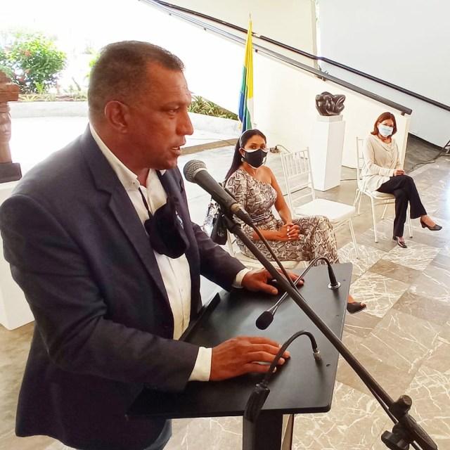 El gobernador de Nueva Esparta en su discuro habla de lo importante de la cultura para el desarrollo del estado