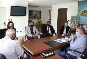 Un aspecto de la reunión entre el Ejecutivo regional y las autoridades de la Universidad Yacambú