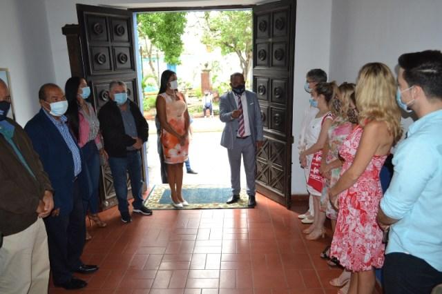 La diplomática polaca dijo sentirse honrada por el recibimiento brindado por el gobernador Alfredo Díaz y Leynys Malavé de Díaz, primera dama
