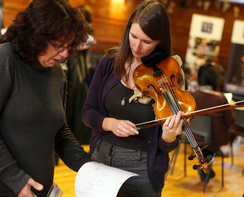 Teaching Violin to a teacher