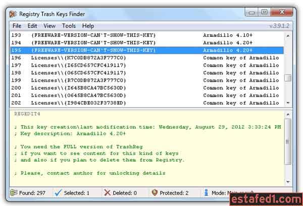 شرح أداة Registry Trash Keys Finder لتمديد الفترة التجريبية للبرنامج