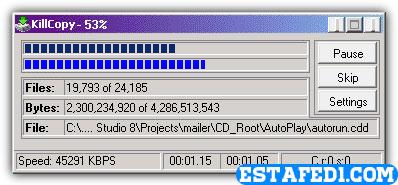 نقل الملفات من الكمبيوتر الى الفلاشة بأعلى سرعة KillyCopy