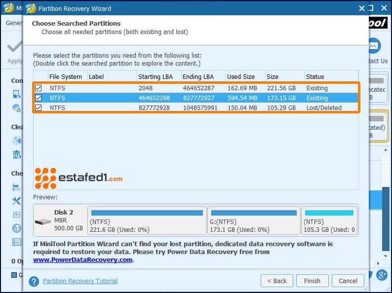 اختيار جميع الأقسام الخاصة بالقرص الصلب التالف وفحصها Disk Management console view is not up-to-date