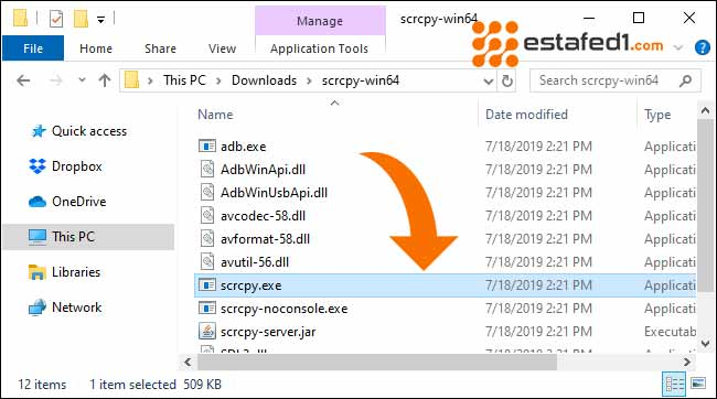 عرض شاشة الأندرويد على الكمبيوتر عن طريق usb   Phone's Screen scrcpy