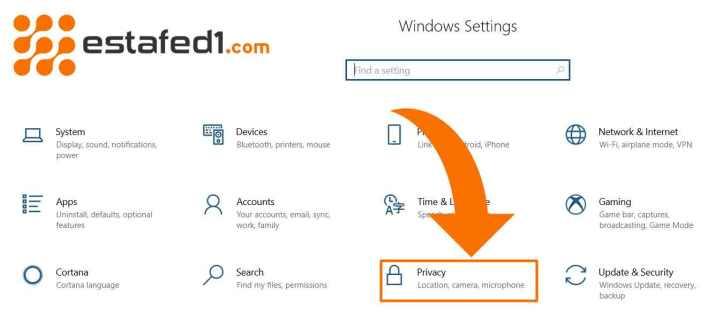 الخصوصية - ايقاف التطبيقات التى تعمل في الخلفية