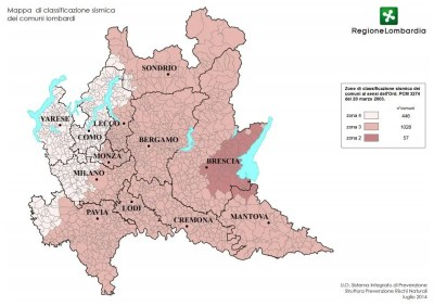 classificazione sismica lombardia