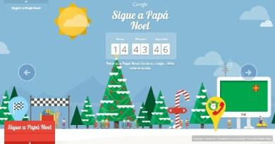 Sigue a Papa Noel con Google