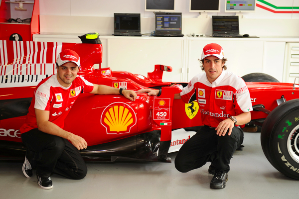 Shell y Pilotos Ferrari