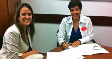 Elizabeth Bravo, Gerente General de Alcatel-Lucent de Venezuela y Marilyn De Silva, Gerente General de Superatec