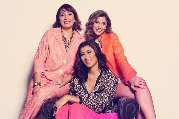 Nelly Oliveros, Heidi García y Rosa Gubaira