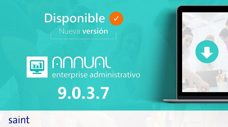 Disponible Annual enterprise administrativo versión 9.0.3.7