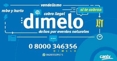 Denuncia irregularidades en los servicios de telecomunicaciones al 08000 Dímelo